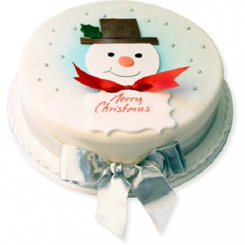 christmas Snow man Cakes