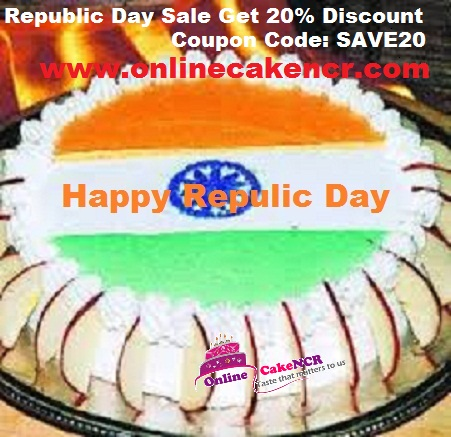 Republic day cake in Noida