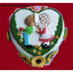 Love Heart Shap Cake-250x250