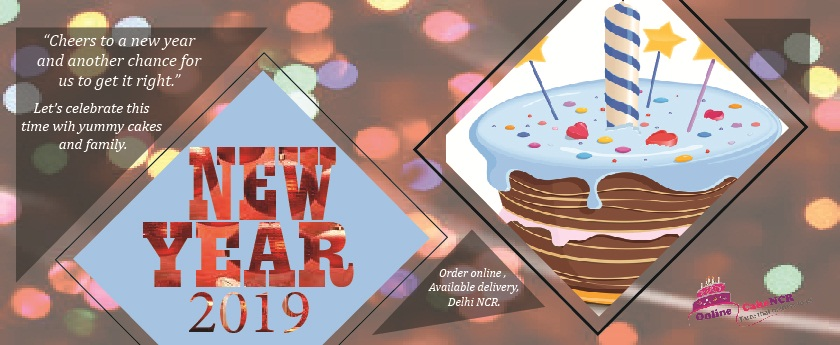 Happy New Year 2019 With Onl ine-Cake-NCR