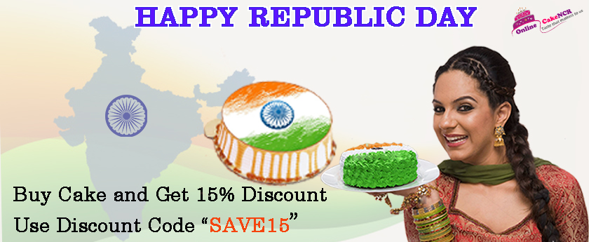 Happy Republic Day From Onlinecakencr Team