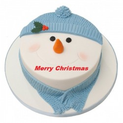 Snow Man Face Cake