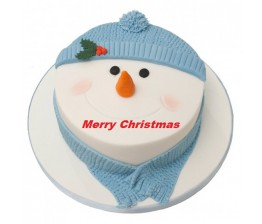 Snow Man Face Cake