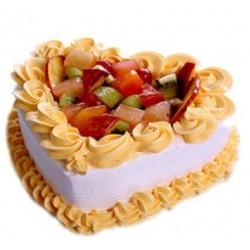 Fruit Heart Cake