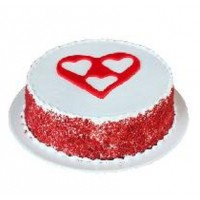 Heart Crafted Cake