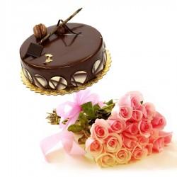 Choco Almond Cake 20Roses