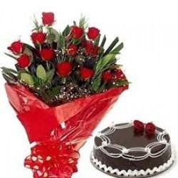 Combo Offer Cake & Flowers