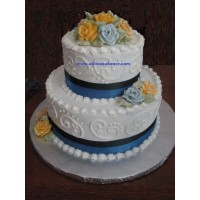 Double Layer Anniversary Cake