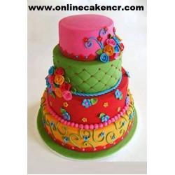 Four Lare Fondant Cake