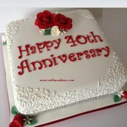 Anniversary  (Fondant Cake)