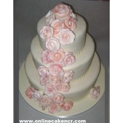 Wedding Cake (Fondant )