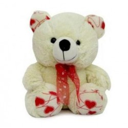 9 inch white teddy