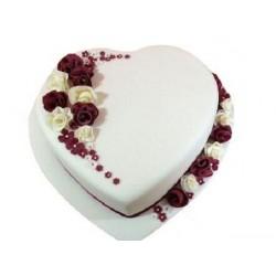 Fondant Designer Cake White Hart