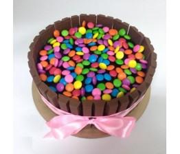 Gems Kitkat Cake