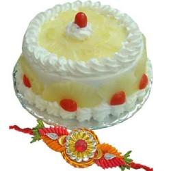 Cake With Rakhi