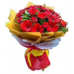 Gerbera With Roses Bouquet