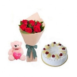 Cake Flower Teddy