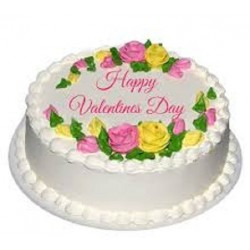 Happy Valentine Day Cake