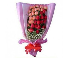 15-Pink And 15 -Red Roses