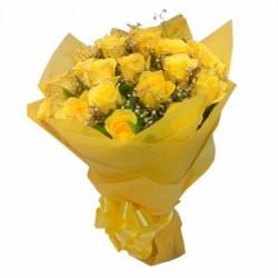 18- Yellow Roses Hand Bunch
