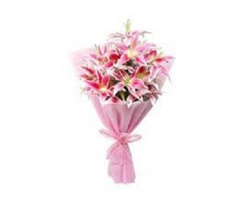 Pink Lily Hand Bunch
