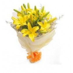 Special Yellow Lily Bunch