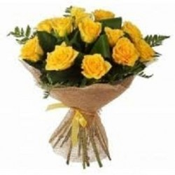 15-Yellow Roses  Bunch