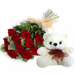 Red Roses Teddy