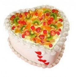 Fruit Cake Heart Shape