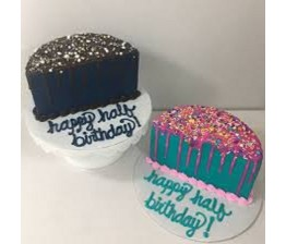 2- Half Birthday Cake