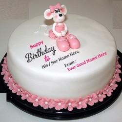 Birthday Mouse Cake (Fondant)