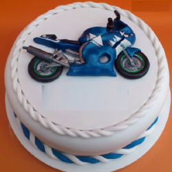 Bike Happy Birthday Fondant
