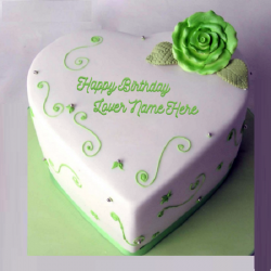 Green Heart Birthday (Fondant)